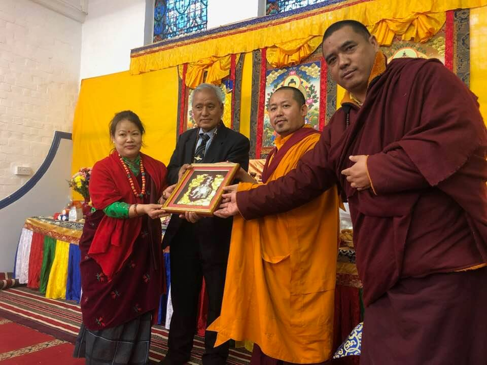 Khenpo Santosh Gurung And Lama Khusiman Gurung With BGRUK Chairperson For Puja – At Reading 2019